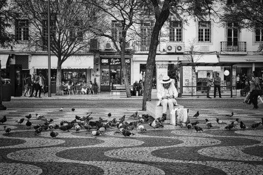 Фото бесплатно пешеход, человек, птица