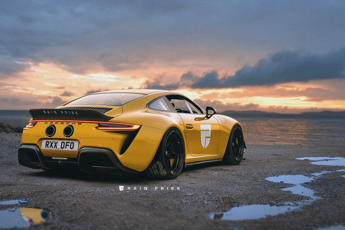 Желтый Парше 911 · бесплатное фото