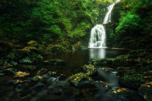 Фото бесплатно водопад, течение, ручей