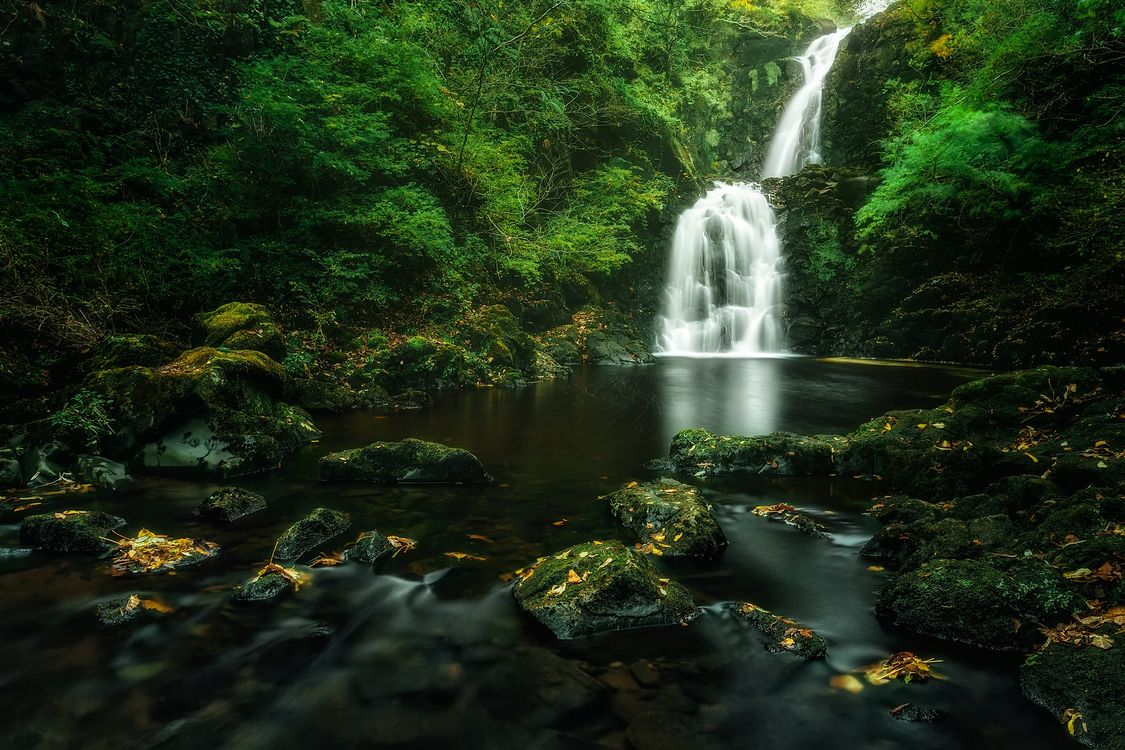 Фото бесплатно водопад, течение, ручей - на рабочий стол