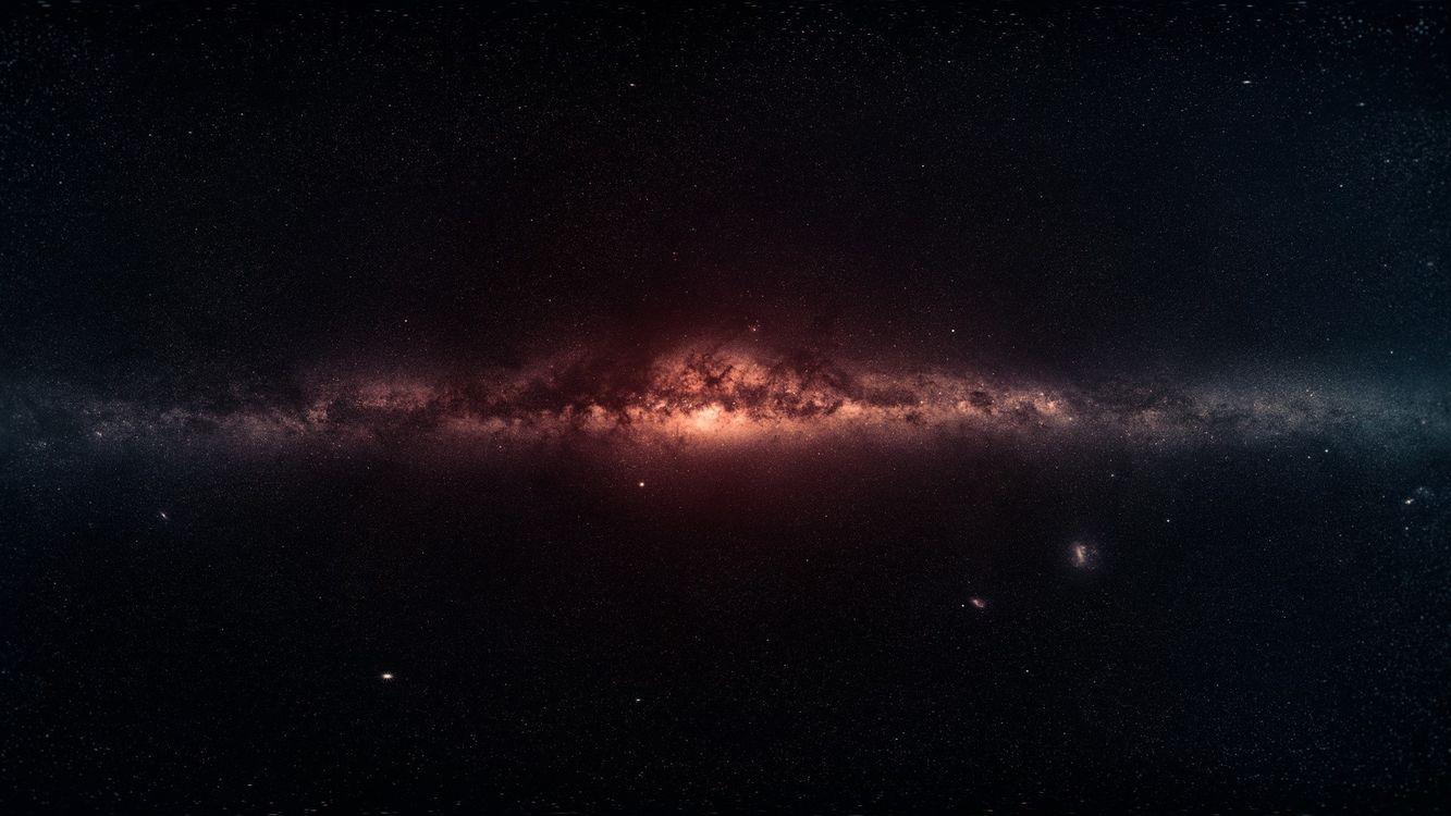 Фото бесплатно центр галактики, туманность, звезды - на рабочий стол