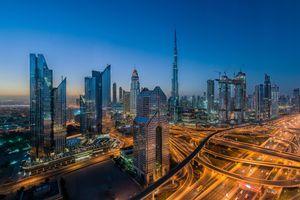 Заставки город, огни, ОАЭ