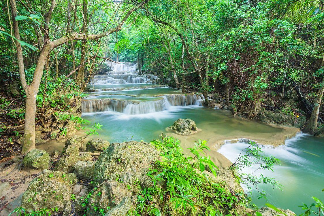Река в Таиланде · бесплатная заставка