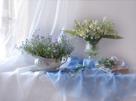 Фото бесплатно букет, ваза, ландыши