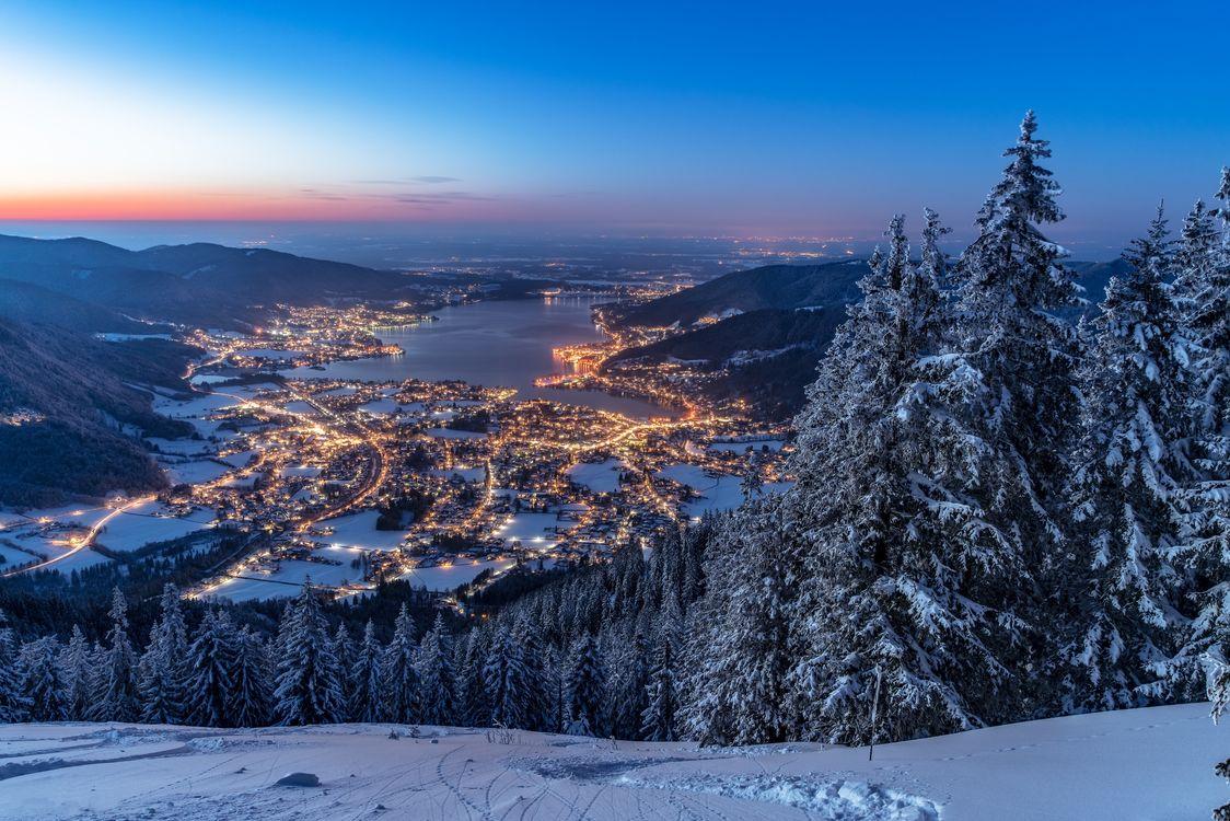 Фото бесплатно Бавария, Валленберг, зима, Bavaria, Альпы, Германия, пейзажи
