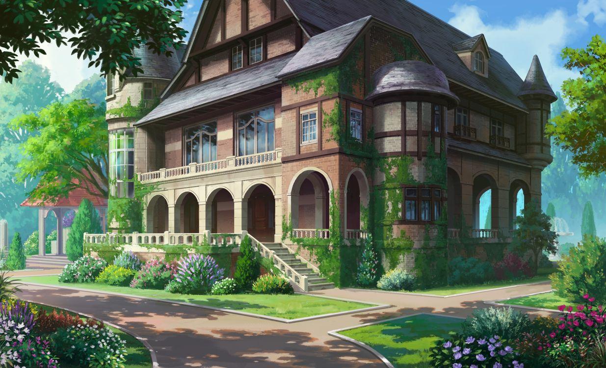 Фото бесплатно дом аниме, живописный, лес, листва, мох, дневной свет, аниме - скачать на рабочий стол