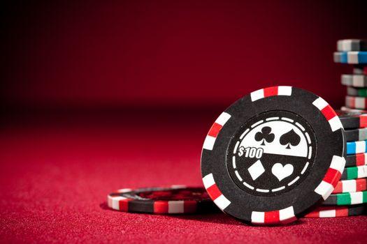 Photo free casino, poker chips, 100
