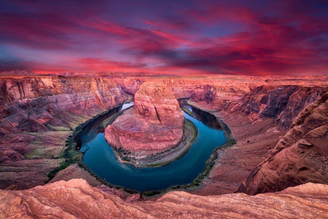 Обои Horseshoe Bend, Arizona, Colorado River картинки на телефон