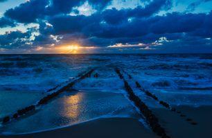 Заставки берег, облака, пейзаж