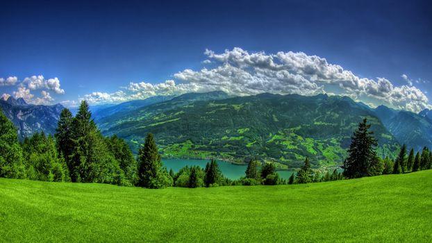 Фото бесплатно горы, озеро, природа