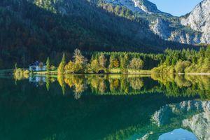 Бесплатные фото Зальцкаммергут,Австрия,дома,озеро,горы,природа,пейзаж