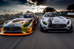 Two Mercedes sports car AMG · free photo