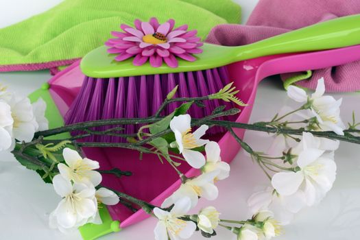 Photo free broom, flowers, bouquet of flowers
