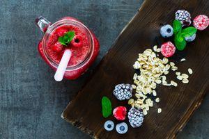 Бесплатные фото завтрак,смузи,ягоды