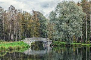 Мосты Серебряного озера в Гатчине