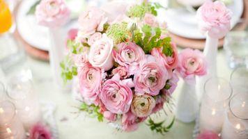 Photo free Asian Buttercup, bouquet, vase