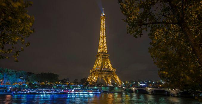Фото бесплатно ночь, France, Eiffel Tower