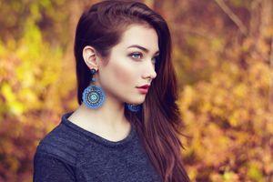 Beautiful with big earrings · free photo