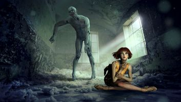 Бесплатные фото фантазия,пространство,зомби,девушка,составление,мистический,освещение
