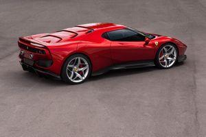Фото бесплатно Ferrari Sp38, вишневая, спортивная