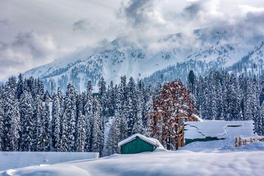 Фото бесплатно Гималаи, горы, снег