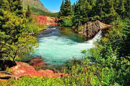 Фото бесплатно водоем, течение, лето