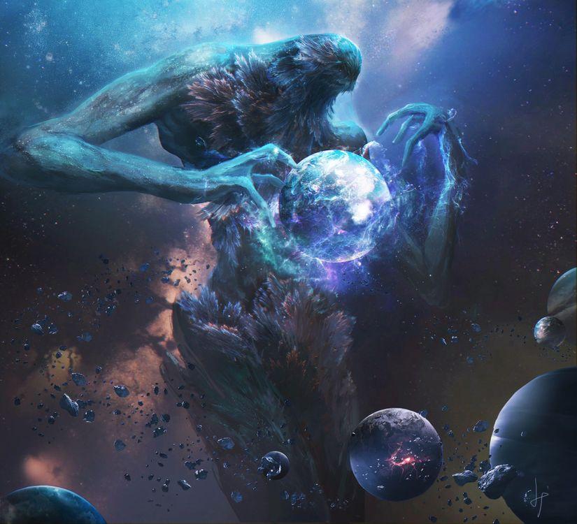 Фото бесплатно монстры, планеты, космос - на рабочий стол