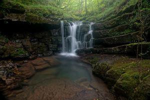 Фото бесплатно природа, водопад, пруд