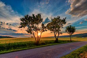 Заставки небо, солнце, деревья