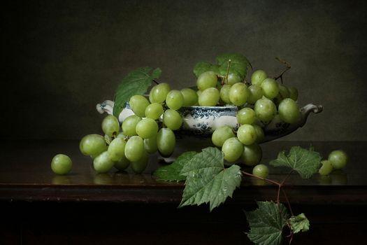 Фото бесплатно фрукты, натюрморт, виноград