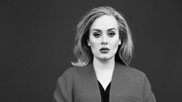 Photo free Adele, celebrities, gray background