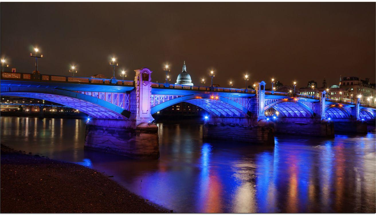 Фото бесплатно Southwark Bridge, Лондон, река Темза - на рабочий стол