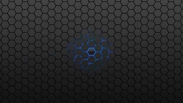 Фото бесплатно ячейки, нанотехнологии, свечение, аннотация, черный, узор, обои