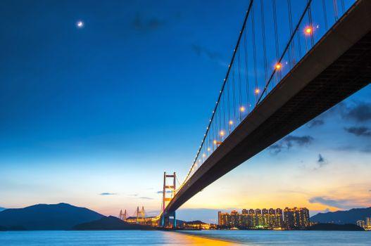 Заставки мост, современные здания, архитектура