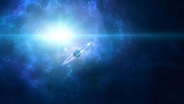 Photo free planetary rings, light, galaxy