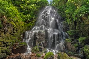 Заставки Fairy Falls, Wahkeena Canyon, Columbia River Gorge