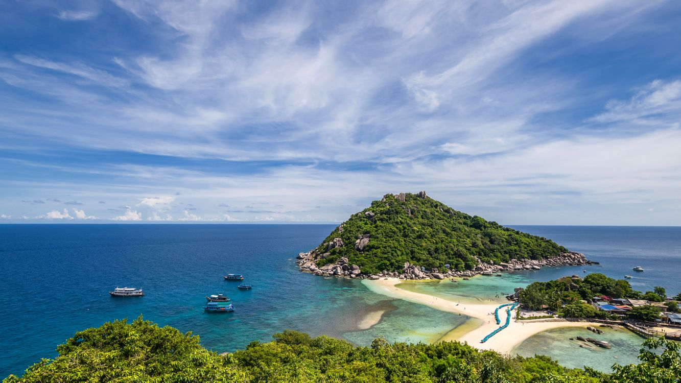 Фото бесплатно Koh Nangyuan, Nang Yuan Island, Thailand, пейзажи