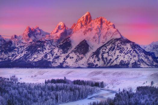 Фото бесплатно Вайоминг, снег, Национальный парк