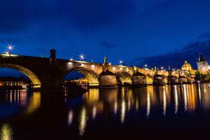 Фото бесплатно мосты, дома, Пражский град
