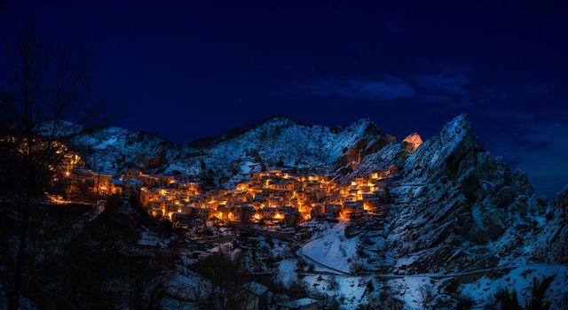 Заставки castelmezzano, италия, деревня