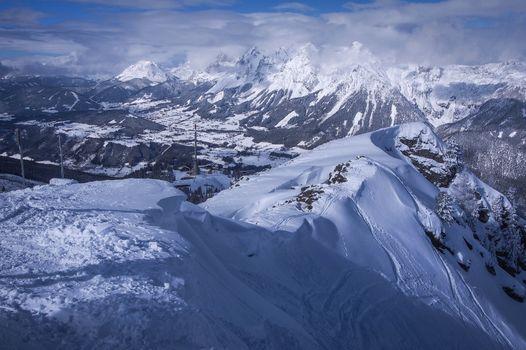 Бесплатные фото Горнолыжный курорт Хаузер Кайблинг,Шладминг,Австрия,Крупнейший горнолыжный курорт федеральной земли Штирии,зима,горы,пейзаж