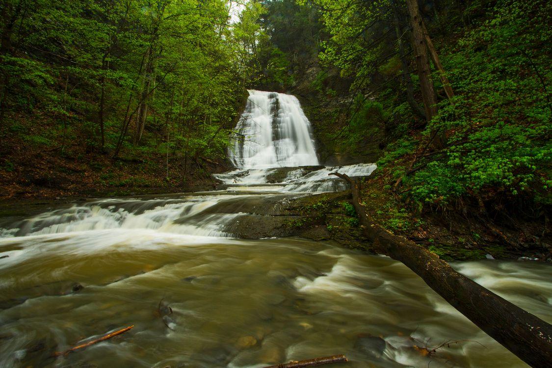 Посмотрите на водопады · бесплатная заставка