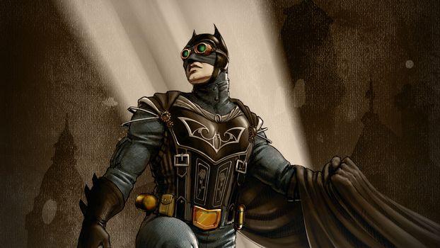 Фото бесплатно Бэтмен, Стимпанк, Супергерои