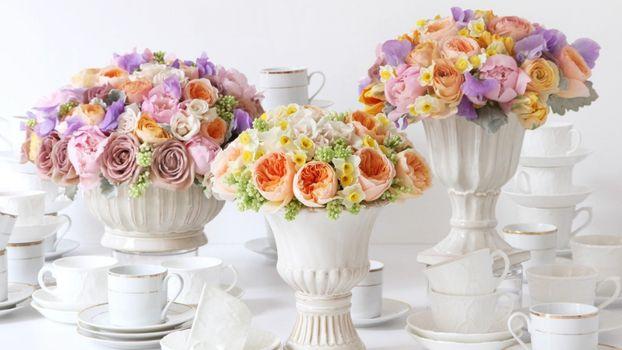 Фото бесплатно декор, вазы, цветы