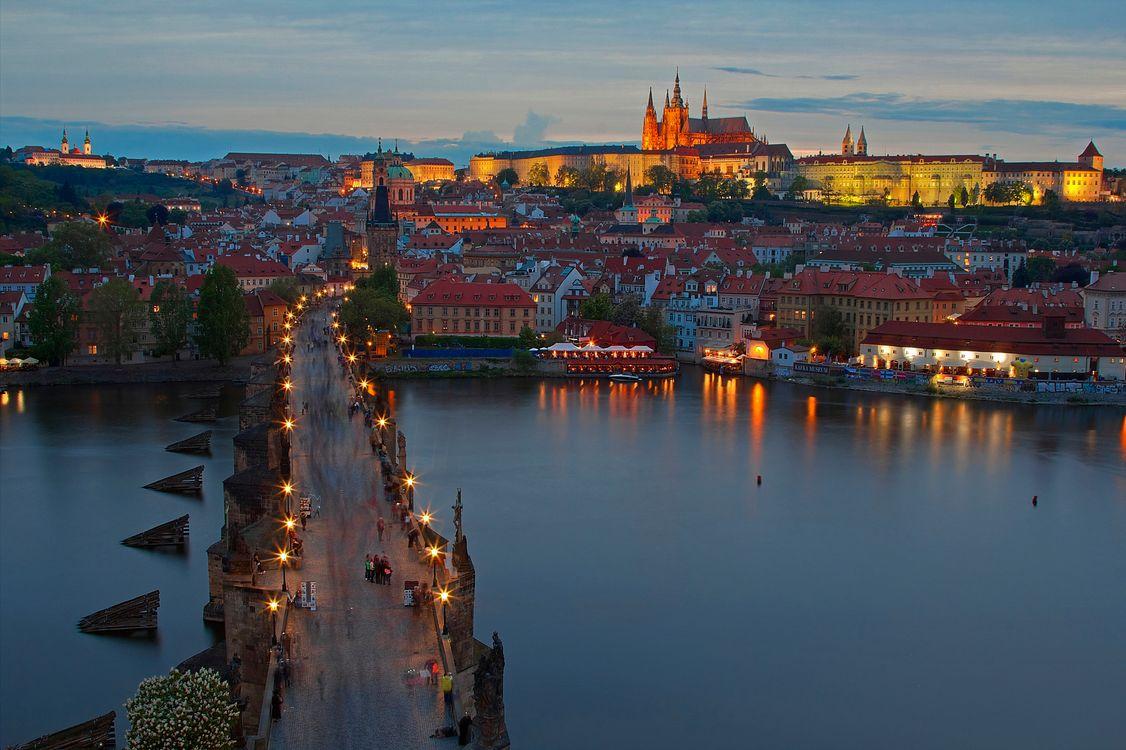 Фото бесплатно Charles Bridge, Prague, Czech Republic, Карлов мост, Прага, Чехия, город