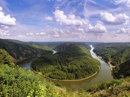 River Saar - пейзаж