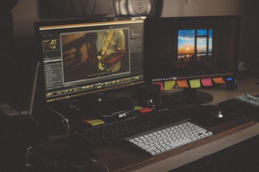 Фото бесплатно компьютер, экран, клавиатура