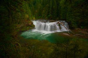 Фото бесплатно течет, водопад, Вашингтон