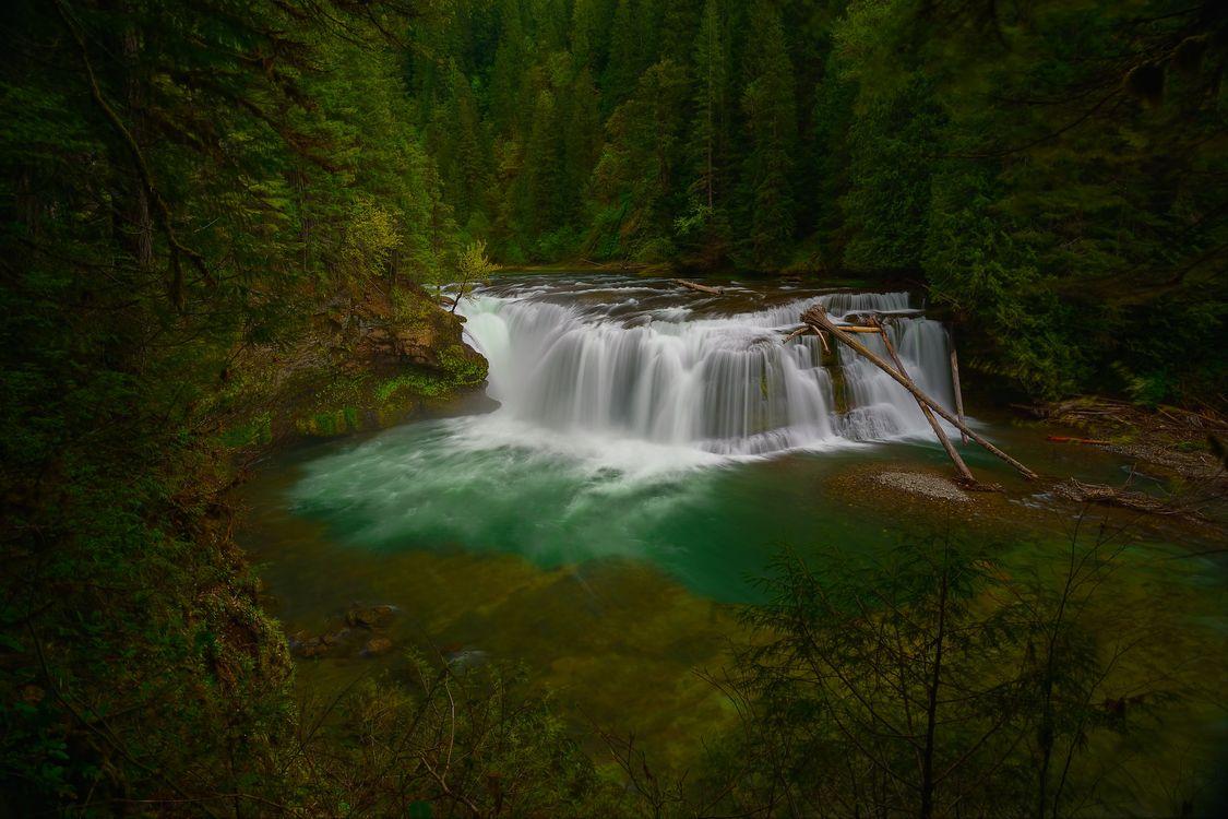 Фото бесплатно течет, водопад, Вашингтон - на рабочий стол