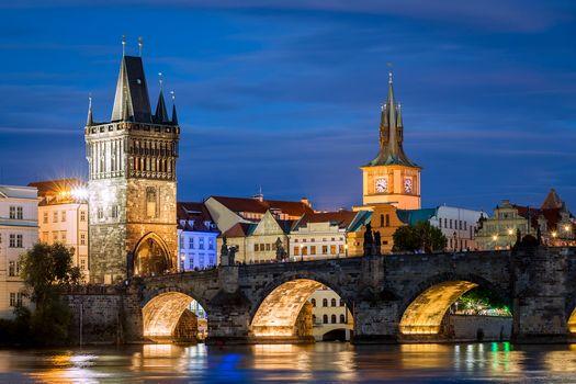 Фото бесплатно Старая башня моста, Старый город, Карлов мост